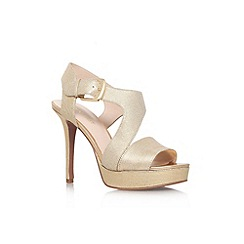 Nine West - Gold 'Saynomore' high heel sandal