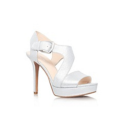 Nine West - Silver 'Saynomore' high heel sandal