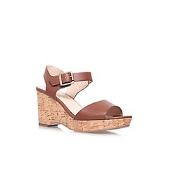 Carvela - Tan 'Sophie' mid wedge heel sandal