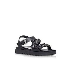 Carvela - Black 'Koral' embelilshed flat sandal