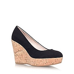 Carvela - Black 'Attend' high wedge heel court shoe
