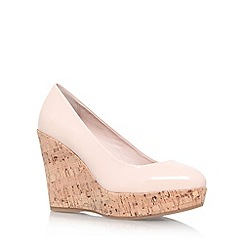 Carvela - Nude 'Attend' high wedge heel court shoe