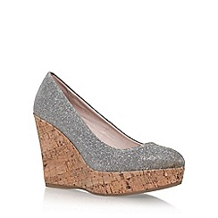 Carvela - Metal 'attend' high heel wedge court shoe