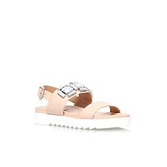 Carvela - Nude 'Kusp' flat embelished sandal