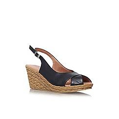 Carvela Comfort - Black 'Sky' mid wedge heel sandal