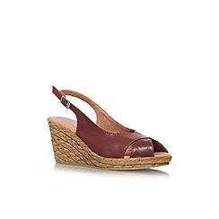 Carvela Comfort - Tan 'Sky' mid wedge heel sandal
