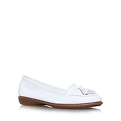 Carvela Comfort - White 'Como' flat slip on shoe