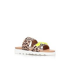 Carvela - Tan 'Bret' flat embellished sandal