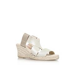 Carvela - Gold 'Samuel' mid wedge heel sandal
