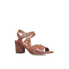 Carvela - Tan 'Sand' mid block heel sandal