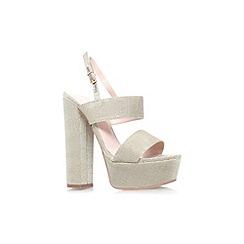 Carvela - Gold 'Glamorous' high heel platform sandal