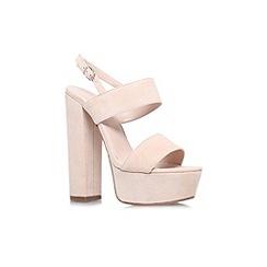 Carvela - Nude 'Glamorous' high heel platform sandal