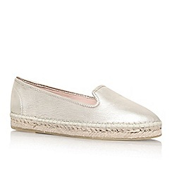 Carvela - Gold 'Landed' flat slip on espadrille