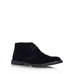 KG Kurt Geiger - Black 'Bedford' flat lace up formal shoe