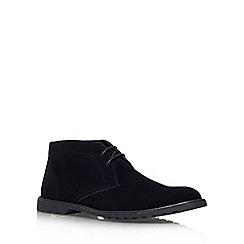 KG Kurt Geiger - Black 'Bedford' flat lace up formal shoe