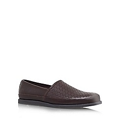 KG Kurt Geiger - Brown 'Ethelred' flat slip on shoes
