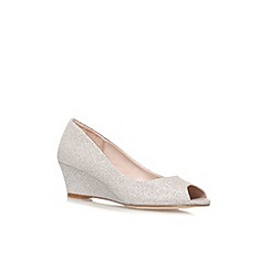 Carvela - Silver 'Kim' Low heeled wedge shoe