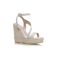 Carvela - Gold 'Klassy' high wedge heel strappy sandal