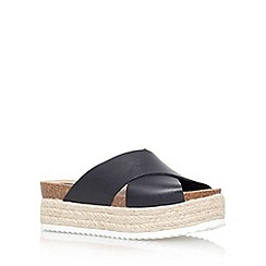 Carvela - Black 'Kool' flat platform slip on sandals