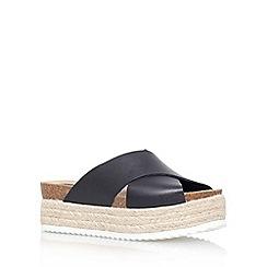 Carvela - Black 'Kool' flat platform slip on sandals