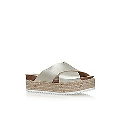 Carvela - Gold 'Kool' flat slip on sandal