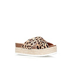 Carvela - Multi 'Kool' flat platform slip on sandals