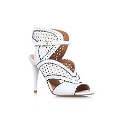 Nine West - White/blk 'Danyell' high heel shoe boot