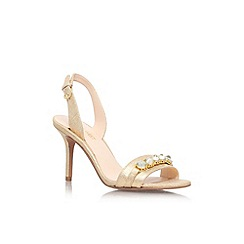 Nine West - Gold 'Ganiston' high heel strappy sandal
