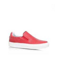 KG Kurt Geiger - Red 'Jerome' Flat slip on sneakers