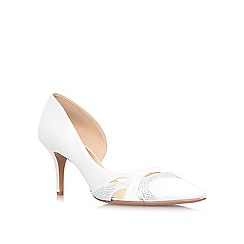 Nine West - White 'Kabarda2' mid heel court shoe