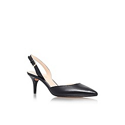Nine West - Black 'Margareth' mid heel sling back