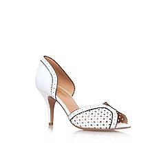 Nine West - White/blk 'Obvyus' mid heel court shoe