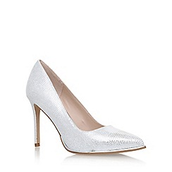 KG Kurt Geiger - Silver 'Beauty' high heel court shoes