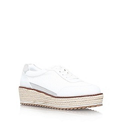 KG Kurt Geiger - White 'Lush' flat platform lace up shoe