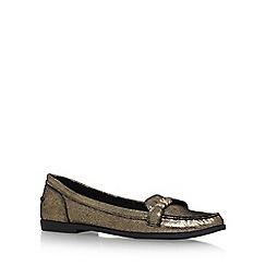 KG Kurt Geiger - Gold 'Kassidy' Flat Slip On Loafers