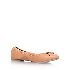 KG Kurt Geiger - Tan 'Kitten' flat ballerina pumps