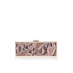 Carvela - Pale pink 'Glisten' snake clutch bag