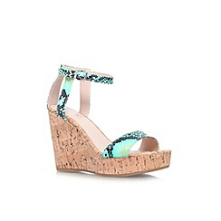 Carvela - Turquoise 'Kling' high wedge heel sandal