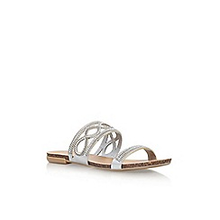 Carvela - Silver 'Barbara' flat slip on sandal