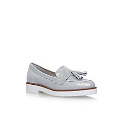 KG Kurt Geiger - Silver 'Kola' flat slip on loafers