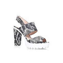 Miss KG - Grey mixed 'Python' high heel platform sandal