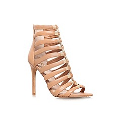 Vince Camuto - Tan 'Troy' high heel strappy shoe boot