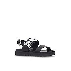Carvela - Black 'Kamilla' flat platform sandal
