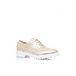 Carvela - Gold 'Lustre' low flat platform lace up shoes