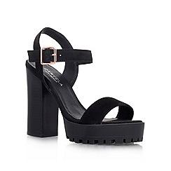 Carvela - Black 'GALLOP' High block heeled platform sandal