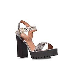 Carvela - Taupe 'Gallop' high block platform heel sandal