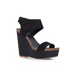 Vince Camuto - Black 'Kaja' high wedge heel sandal