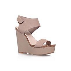 Vince Camuto - Taupe 'Kaja' high wedge heel sandal