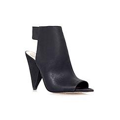 Vince Camuto - Black 'Cam' high heel peep toe shoe boot