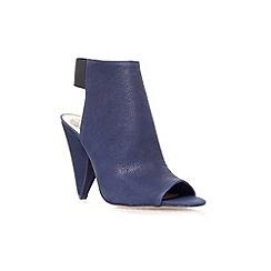 Vince Camuto - Navy 'Cam' high heel peep toe shoe boot